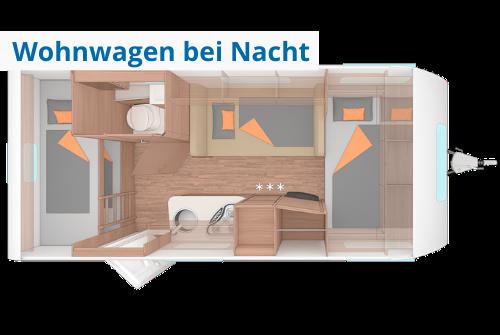 Grundriss Wohnwagen zur Miete Weinsberg