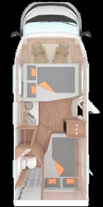 Wohnmobil CaraSuite von Weinsberg Grundriss