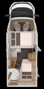 Wohnmobil mit Hund mieten - Beispielansicht Grundriss