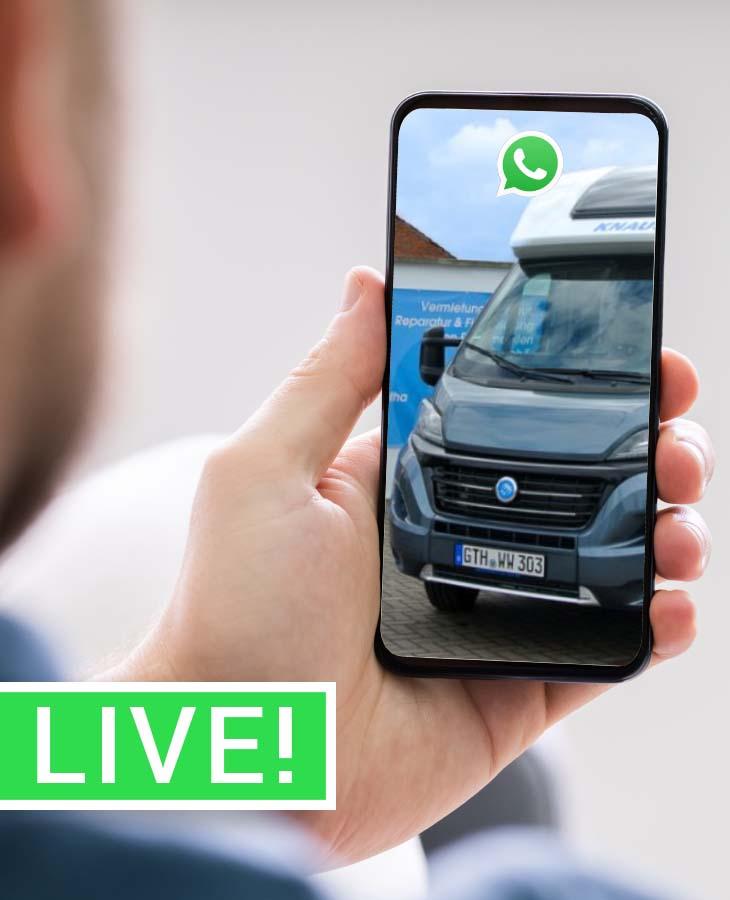 Live Videoberatung per Whatsapp bei Appartement on Tour
