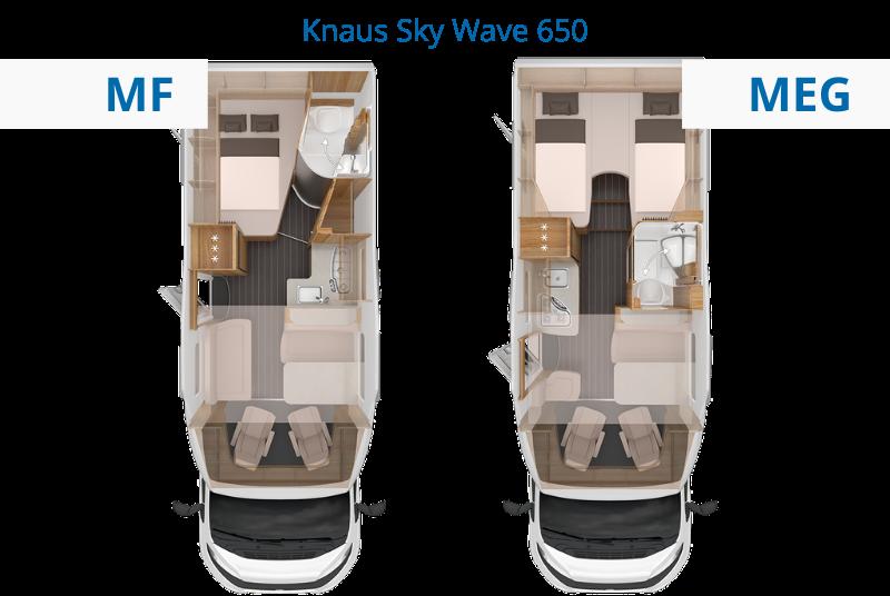 Knaus Sky Wave Grundriss vergleichen