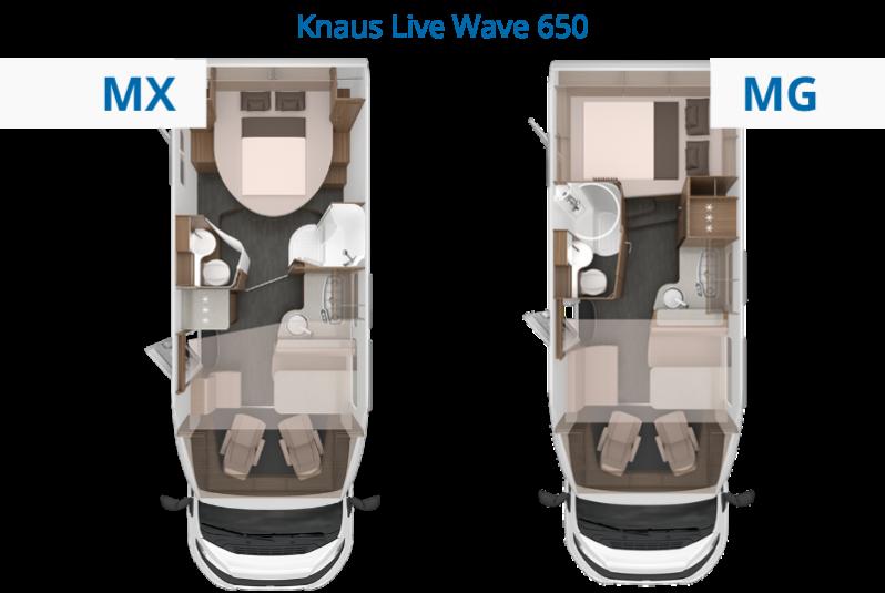 Knaus Live Wave 650 Grundrisse vergleichen