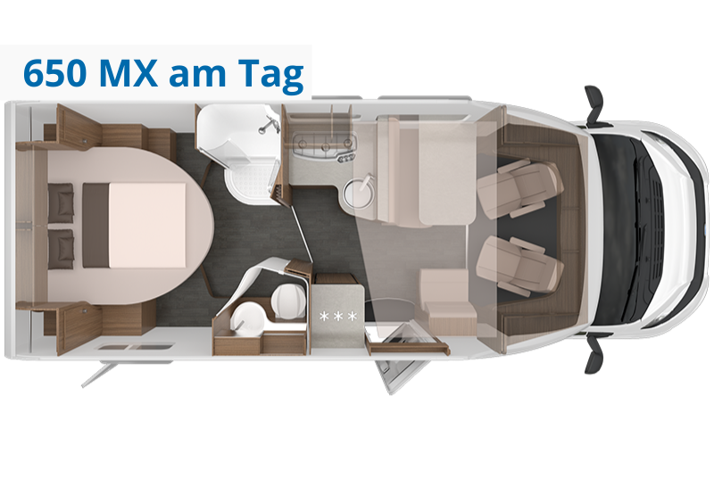 Wohnmobil Knaus Live Wave MX Grundriss bei Tag