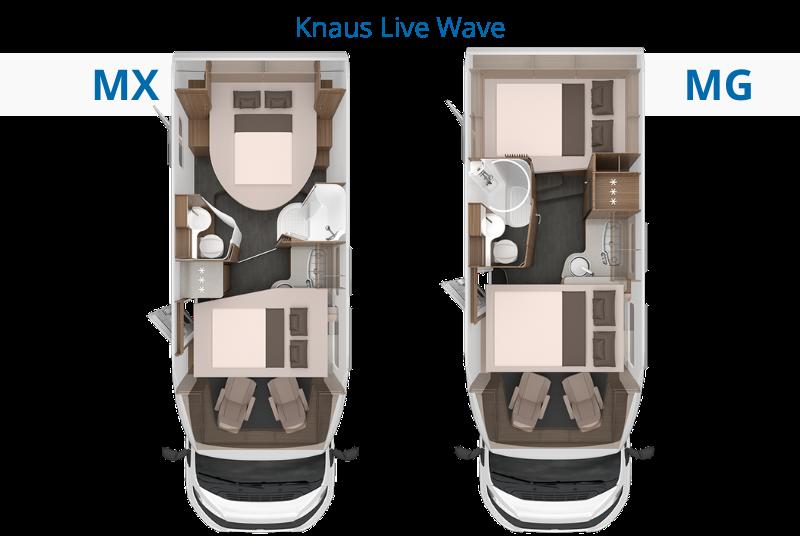 Knaus Live Wave Unterschiede Vergleichsansicht Grundrisse